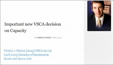 Important new VSCA decision on Capacity