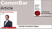 July 2013 CommBar newsletter – VLRC inquiry into succession law – Family Provision