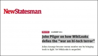 "Newstatesman - John Pilger on how WikiLeaks defies the ""war on hi-tech terror"""