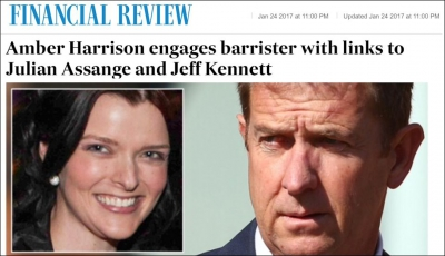 Amber Harrison engages barrister with links to Julian Assange and Jeff Kenett