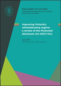 Victorian protected disclosure act James Catlin